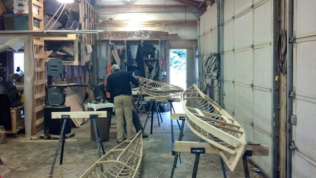 Building skin-on-frame kayaks with Cape Falcon Kayaks at Westwind - 2014