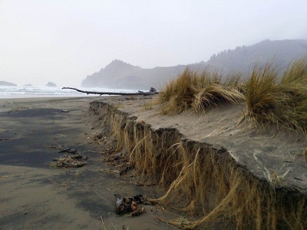 Eroded beach near Westwind volleyball court