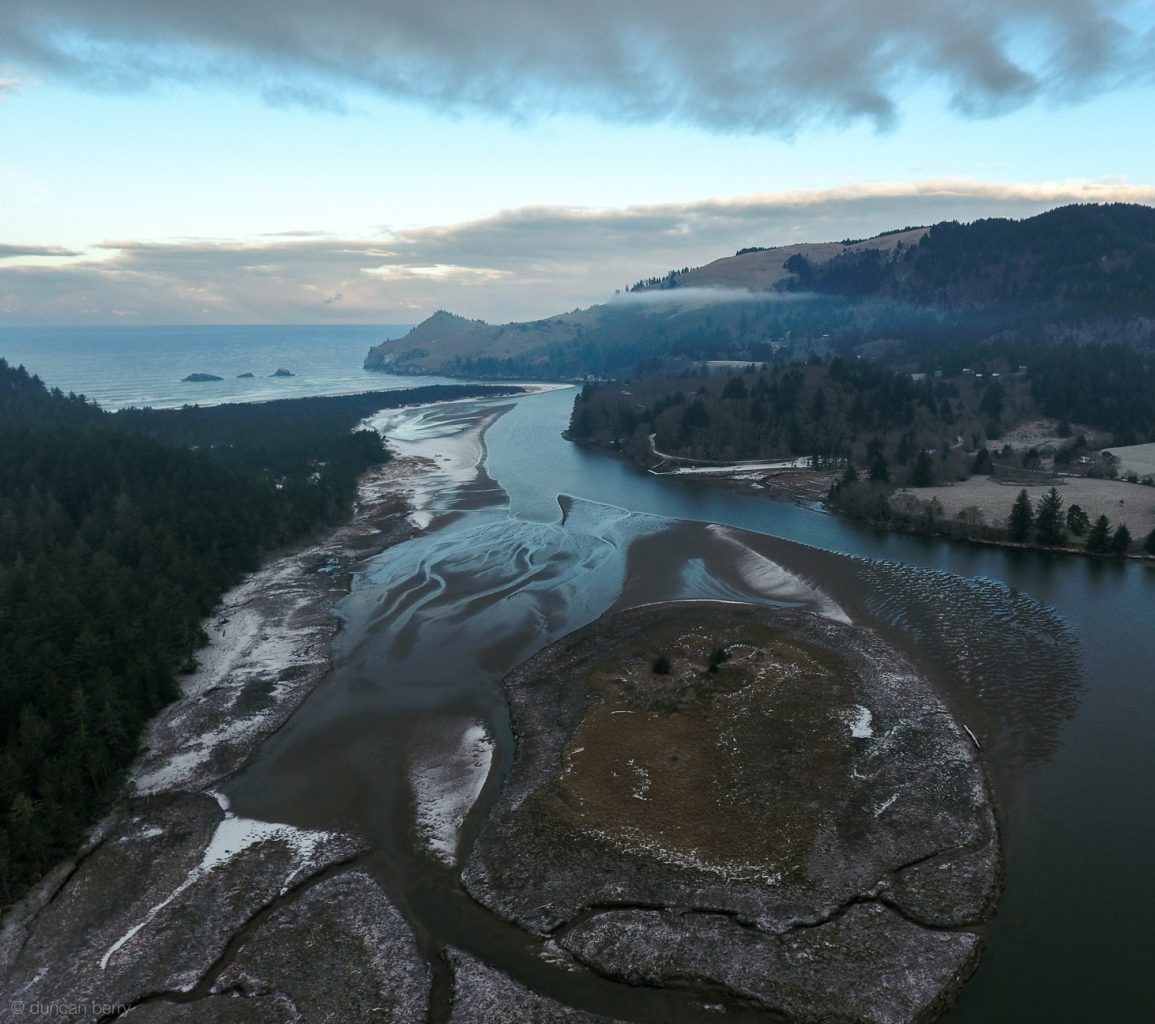 Big view of Salmon River estuary and mouth