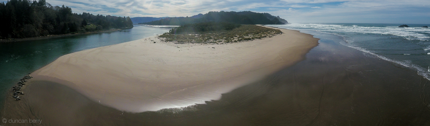 View looking south from over the mouth of the Salmon River