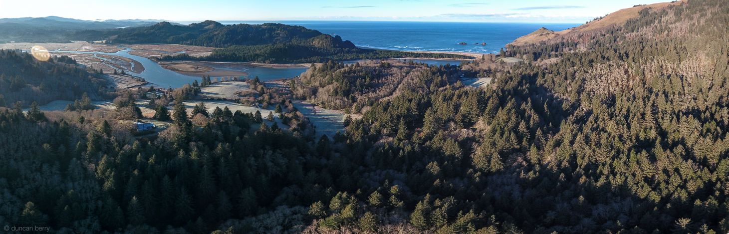 View from the Neskowin Crest/Grass Valley area, looking down at Westwind