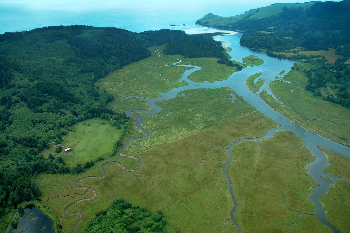 Salmon River Estuary -- Westwind's three-mile long north border